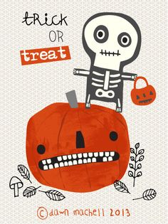Trick or treat illustration by Dawn Machell