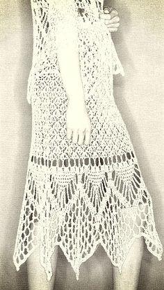 Doris Chan has created several crochet skirt patterns using hemp yarn