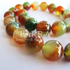 Brazil agate beads natural agate gemstone beads 10mm by FARRAgem