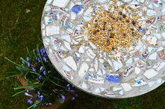 How to Make a Mosaic Bird Feeding Table :: Hometalk