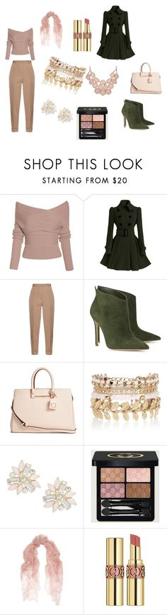 """Bez naslova #2"" by fatimka-becirovic ❤ liked on Polyvore featuring Bottega Veneta, Gianvito Rossi, GUESS, River Island, Cara, Gucci, Valentino, Yves Saint Laurent, women's clothing and women"