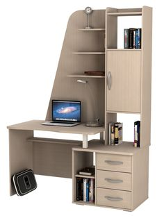 You may choose your favorite DIY computer desk according to your wishes. What are the best DIY computer desk to make? Computer Desk Design, Computer Desks For Home, Office Table Design, Home Desk, Home Office Desks, Home Office Furniture, New Furniture, Furniture Design, Discount Furniture