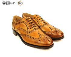 Cheaney Arthur 3 | Brown Tan Brogue Shoe | Hand Made in England