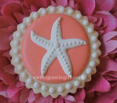 Starfish Decorated Sugar Cookies by sweetgoosiegirl on Etsy