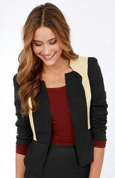 Black and beige blazer