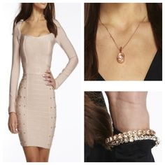 Monday's outfit spotlight: Lexie Dress with rose gold accessories