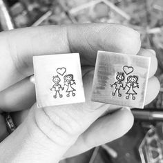 Personalised valentines or anniversary cufflinks. Jewellery workshop, workbench bench peg. Love heart, wedding, handmade personalised cuff links. Hand stamped custom made. Louy Magroos silversmith