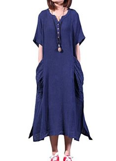 Minibee Women's Summer Cotton Linen Dress with Two Big Po... https://www.amazon.ca/dp/B01DNCTE3U/ref=cm_sw_r_pi_dp_Ax0Axb2H5QCCT