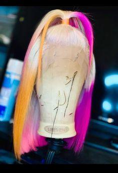 Hair Ponytail Styles, Curly Hair Styles, Baddie Hairstyles, Pretty Hairstyles, Birthday Hairstyles, Creative Hair Color, Pretty Hair Color, Barbie Hair, Hair Dye Colors