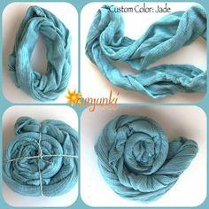 Infinity Scarf Girl Scarf Tie Dye Infinity Scarf by Sunjunki, $19.00