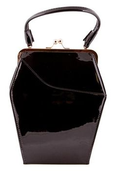 88da21fd4e9 Tatyana To Die For Purse Black Sparkle Coffin Bag Vintage Pinup Goth New