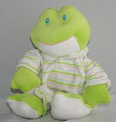 Baby Rattles  - Pin it :-) Follow us .. CLICK IMAGE TWICE for our BEST PRICING ... SEE A LARGER SELECTION of  Baby rattles    at   http://zbabybaby.com/category/baby-categories/baby-and-toddler-toys/baby-rattles/  - gift ideas, baby , baby shower gift ideas - Baby Ganz Plush Stripey Pajama Frog Rattle « zBabyBaby.com