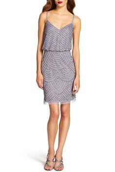 3339051985c Adrianna Papell Sequin Mesh Blouson Dress Heather Silver Gray. Art Deco Bridesmaid  DressesArt ...
