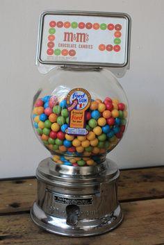 distributeur à bonbons/gums - annees-50-60 - j'adooooore!