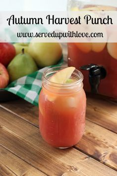 Served Up With Love: Autumn Harvest Punch-Made with apple, pear,cranberry and orange juice its the perfect mix of sweet with a little bit of tart. The perfect drink to usher in Fall. www.servedupwithlove.com #kauffmansfruitfarm #ad.