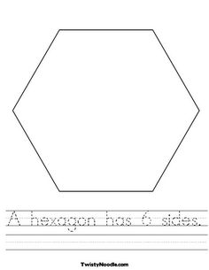 Worksheet Hexagon Worksheets teaching shapes shape and hexagons on pinterest hexagon worksheet