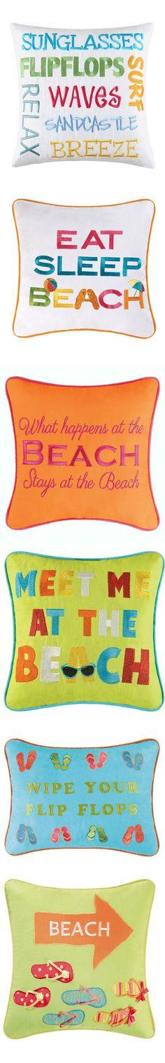 #Beachy throw pillows #seaside #coastal