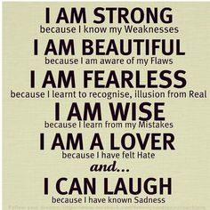 I'm strong because...Love this quote <3