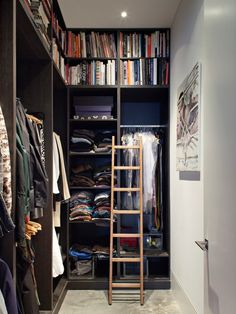 Calvin Street project is a Victorian warehouse conversion into a stylish modern apartment by Chris Dyson Architects, located in Shoreditch, London, England. Home Depot Closet, Closet Walk-in, Build A Closet, Closet Bedroom, Closet Ideas, Small Walkin Closet, Small Closets, Walk In Closet Design, Closet Designs