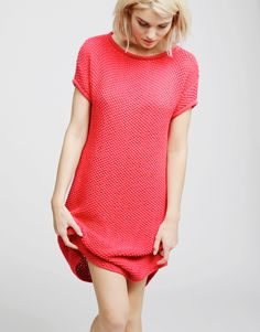 i love this in both colors, coral crush or purple haze, amellie dress from wool and the gang