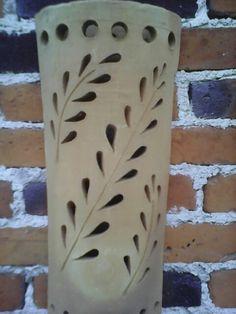 Lampara de barro Ceramic Studio, Ceramic Clay, Ceramic Pottery, Ceramic Lantern, Ceramic Light, Candle Box, Candle Lamp, Bamboo Lamp, Lampe Applique