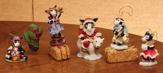 6 Ganz Christmas Cowtown Ornaments & Figurines Collectible Perfect Condition NIB by RebornToAdorn on Etsy