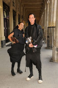 Party Down in Paris - Rick Owens and Michele Lamy