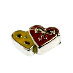 HEART BOW Floating Charms for memory locket necklace #b067 : http://ok-charm-shop.com/floating-locket-charms-c-50_387/