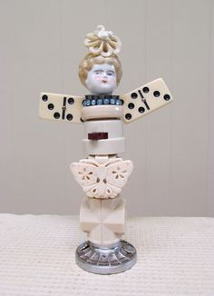 Found Object Sculpture 3D Assemblage Art by SalvageArtSweetheart, $95.00