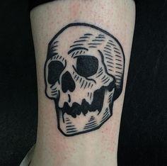 skull tattoo, Artist Unknown