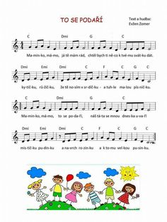 To se podaří Word Search Puzzles, Music Do, Dinosaur Party, Kids Songs, Music Lessons, School Classroom, Holidays And Events, Diy For Kids, Sheet Music