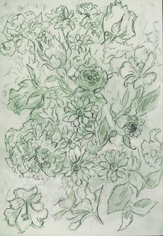 'Flowers on Mother's Day' Rosie Britton, drawing Painting & Drawing, Vintage World Maps, Diagram, Drawings, Artist, Flowers, Artists, Sketches, Drawing