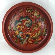 Vintage 1957 Signed Norwegian Rosemaled Bowl Norway Folk Art Rosemaling | eBay