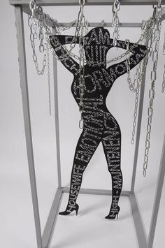 Feminist Sculpture - A sculpture designed to show how women are 'caged' into certain stereotypes. Made for a project in college