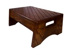 Wood Step Stool With Handle Solid Hardwood by CandlewoodFurniture