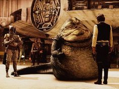 Jabba the Hutt & Boba Fett from the Star Wars Special Edition 1997