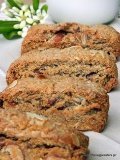 The almond meal that is produced when you squeeze the processed almonds can be used in baking goods like these biscotti! They are delicious and everybody in the house loved them Greek Sweets, Greek Desserts, Greek Cookies, Almond Cookies, Almond Recipes, Greek Recipes, Greek Cake, Italian Biscuits, Biscotti Recipe