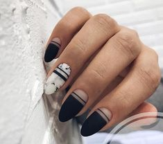 Cugap Artificial Short Full Cover False Fake Matte Nails Art Tip DIY For Women Teens Girls - Cute Nails Club - Matte Black Nails Tutorial this Matte Gel Nails Diy at Matte Blue Nails With Glitter a Nail Care Ro - Red Ombre Nails, Black Gold Nails, Blue Glitter Nails, Gray Nails, Sorbet Nails, Manicure Natural, Matte Acrylic Nails, Marble Nails, Water Nails