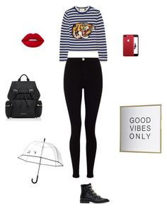 """tardeee"" by gabrielaalizaga on Polyvore featuring Givenchy, Gucci, Lipsy, Burberry, Lime Crime and Kate Spade"