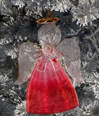 Diabetes Awareness Glass Angel Ornament at The Breast Cancer Site