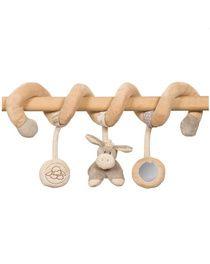 La spirale della Nattou può essere appesa facilmente al lettino, ai maniglion...