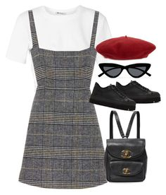 """Sem título #1628"" by oh-its-anna ❤ liked on Polyvore featuring T By Alexander Wang, AlexaChung, Le Specs, MM6 Maison Margiela and Gucci"