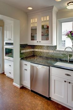 love these cork floors for the kitchen
