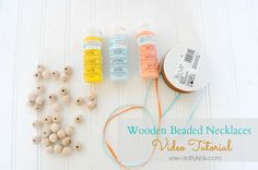 How to make wooden beaded necklaces - Sew-Crafty Kids