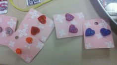 Just for girls Cute Button Earrings by mollylong2 on Etsy, $5.00