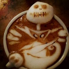 The Nightmare Before Christmas Latte Art // Torani Loves This