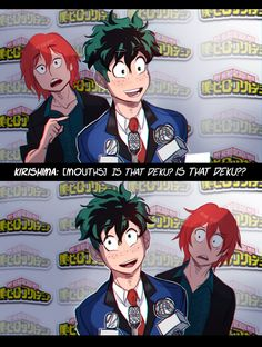 Part 2 of the bnha actor au 📽 This is what the Deku and Kirishima one is based off of Boku No Hero Academia, My Hero Academia Memes, Hero Academia Characters, My Hero Academia Manga, Fictional Characters, Manhwa, Heroes Actors, Hiro Big Hero 6, A Silent Voice