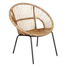Perfect for creating a peaceful oasis beneath the pergola or beside your pool, this rattan accent chair brims with tropical flair. Add a splash of resort-inspired style with an outdoor canopy bed and slatted chaise, or evoke a country club patio with a wicker seating group, bistro set, and striped umbrella.