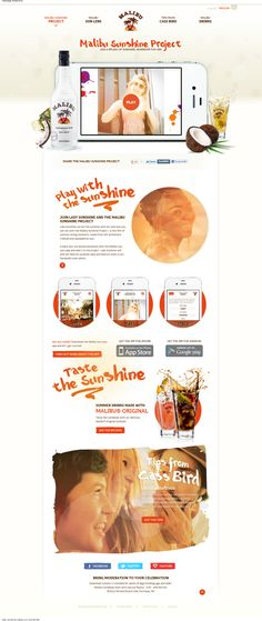 Web Design Inspiration - www.sunshine.malibu-rum.com