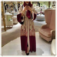 221df641f73 2018 fashion red Muslim dress long sleeve Women Abaya Middle East Long Robe  Gowns Ramadan Dubai Arab Islamic Clothing. Yesterday s price  US  21.28  (19.11 ...